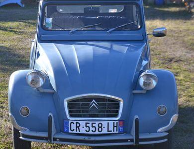 Citroen 2cv Bleu Marine Decapotable à Montolieu (Aude)