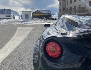 Alfa Romeo 4c à Val-d'Isère (Savoie)