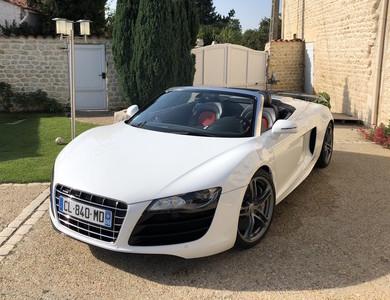 Audi R8 Spider V10 à Soulignonne (Charente-Maritime)