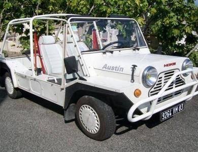 Austin Mini Moke Blanche à Grimaud (Var)