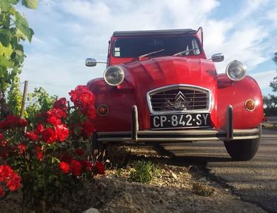 Citroen 2cv Rouge à Lunel (Hérault)