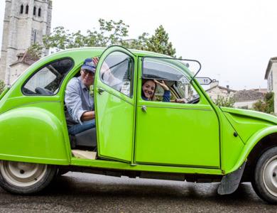 Citroen 2cv Décapotable Verte à Montolieu (Aude)