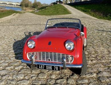Triumph Tr3 à Orléans (Loiret)