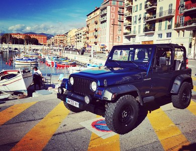 Jeep Wrangler Bleu à Nice (Alpes-Maritimes)