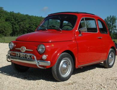 Fiat 500 à Beaumontois-en-Périgord (Dordogne)