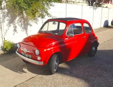 Fiat 500f à Fontaine-la-Louvet (Eure)