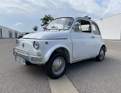 Fiat_old 500 L à Mougins (Alpes-Maritimes)