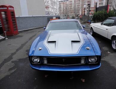 Ford Mustang Bleue à Nanterre (Hauts-de-Seine)