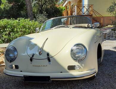 Porsche 356 Speedster à Romanèche-Thorins (Saône-et-Loire)