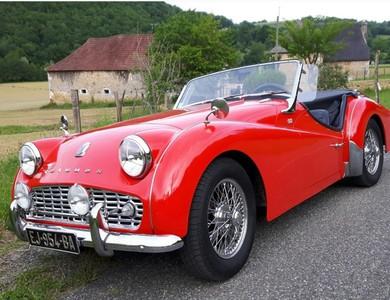Triumph Tr3 A à Pau (Pyrénées-Atlantiques)