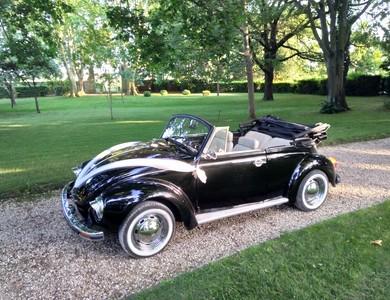 Volkswagen (vw) Coccinelle Cabriolet Noire à Brignac (Hérault)